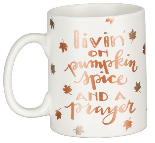 Livin' On Pumpkin Spice And A Prayer Mug
