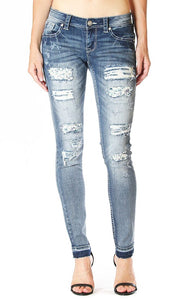 Grace in LA - Distressed Skinny Jean