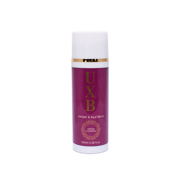 Juniper & Acai Berry Cream Cleanser - Antioxidant rich face wash for polluted or sun damaged skin