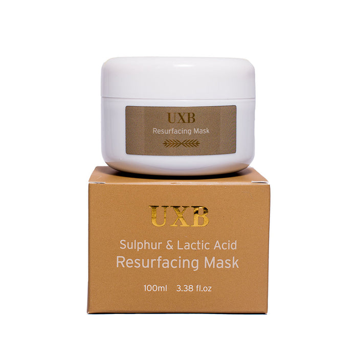 Resurfacing Mask - Sulfur & Lactic Acid Exfoliating Face Mask - UXB natural Skincare