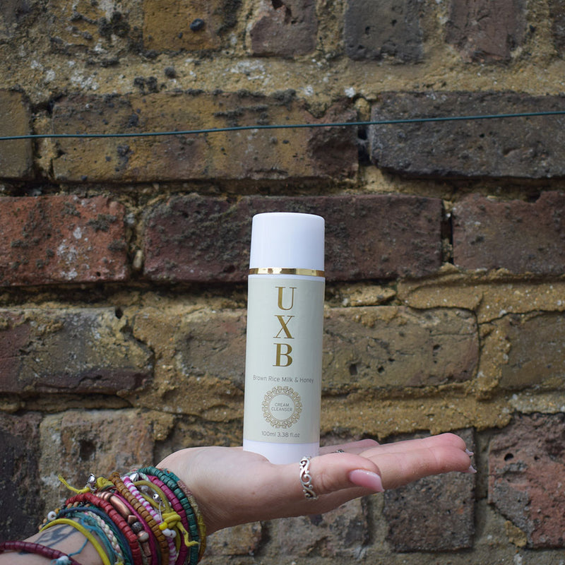UXB Brown Rice Milk & Raw Honey Cream Cleanser - Our calming face wash for oily and acne-prone skin - UXB natural Skincare