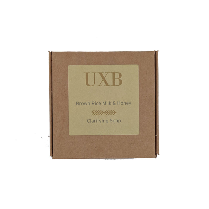 Brown Rice Milk & Honey Clarifying Soap - Large bar - UXB natural Skincare