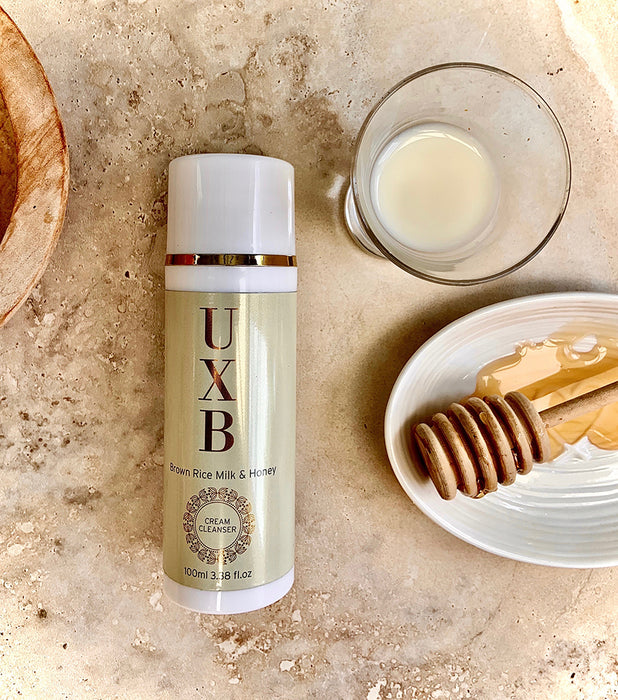UXB Brown Rice Milk & Raw Honey Cream Cleanser - Our calming face wash for oily and acne-prone skin
