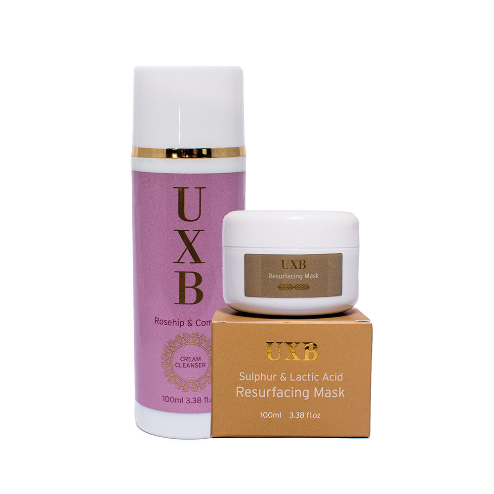 Home Facial Kit for Normal and Combination Skin - UXB natural Skincare