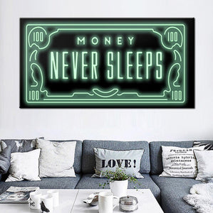 money never sleeps painting