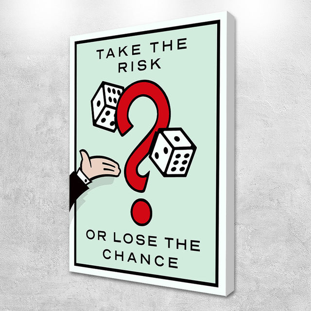 Take the risk Motivational Canvas