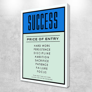 success canvas painting