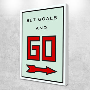 Set Goals and go Canvas wall art