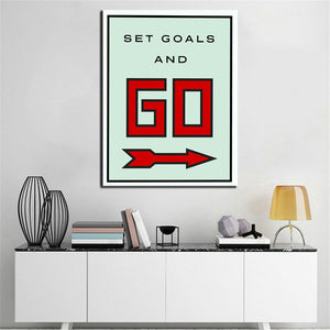 motivation canvas print