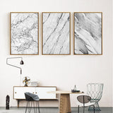 Abstract Grey Marble Paintings wall art decor