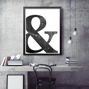 Abstract Minimalist Symbol Painting wall art decor