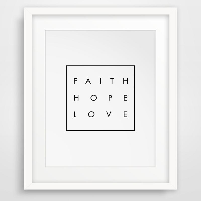 Faith, Hope, Love wall art decor
