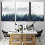 Fogy Forest&Birds Landscape wall art decor