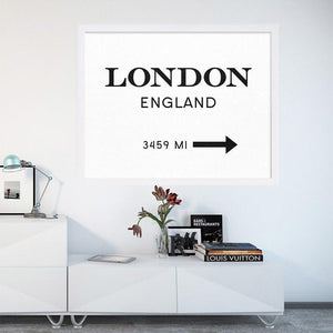 London England Canvas Art wall art decor