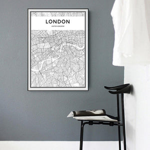London Map Landscape wall art decor