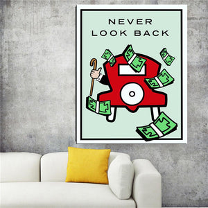 Never look back canvas art