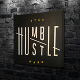Stay humble hustle hard canvas