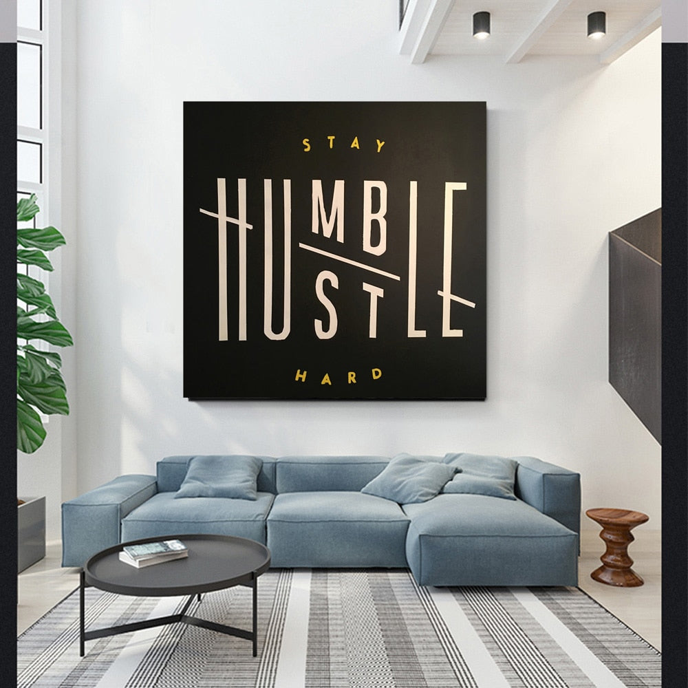 stay humble motivation canvas