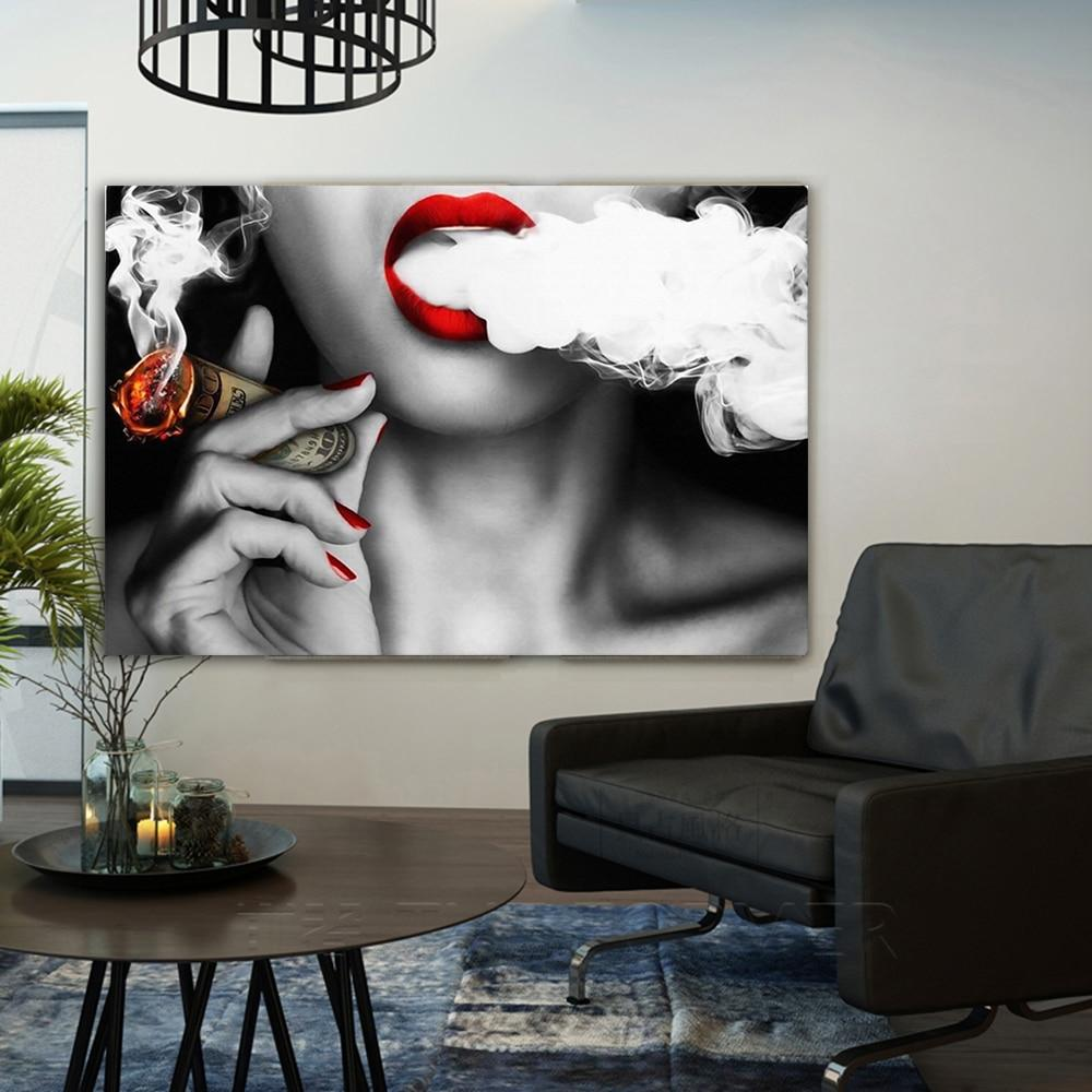 Sexy Lips Money painting