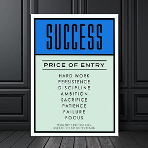 Motivational Success Quotes Artwork