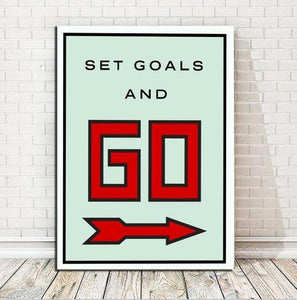 Set Goals Canvas wall art
