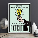 Ideas are worthless Canvas Art