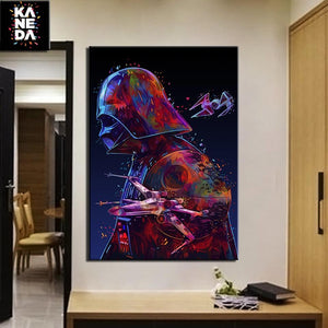 Darth Vader Black Canvas Painting