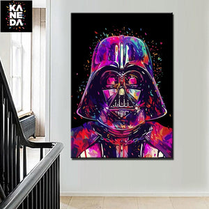 Star War Helmet Darth Vader Canvas Painting