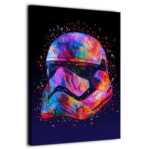 Star War Helmet Stormtooper by KANEDA Canvas Artwork
