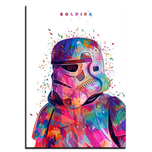 HD War Soldier Stormtrooper Painting