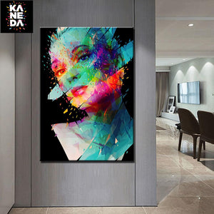Woman Wall Art in Living Room