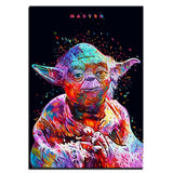 Star War Helmet Mater Yoda HD Canvas Painting by KANEDA Artist