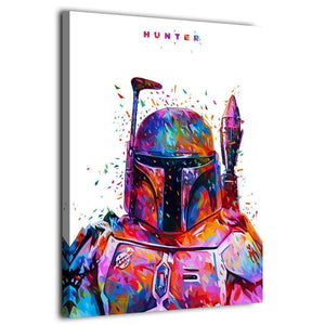 Star War Hunter Stormtrooper Canvas Painting