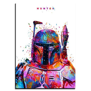 Star War Hunter Stormtrooper Canvas Art