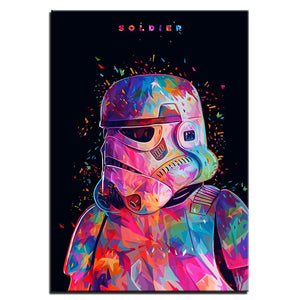 Star War Soldier Stormtrooper Canvas Art