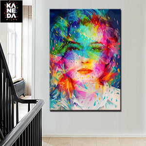 HD Canvas Art Woman Painting Online