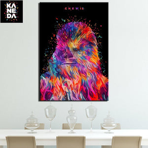 Star War Chewie Canvas Art Painting
