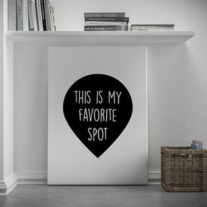 This is my Favorite Spot wall art decor