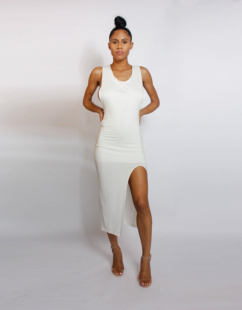 Miriam Stretchy White Dress