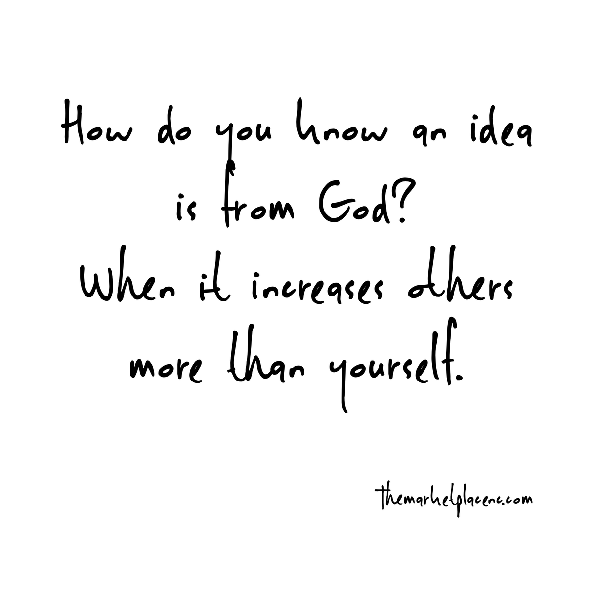How do you know any ideas from God?