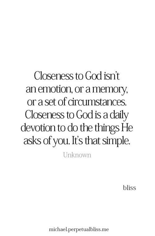 Closeness to God