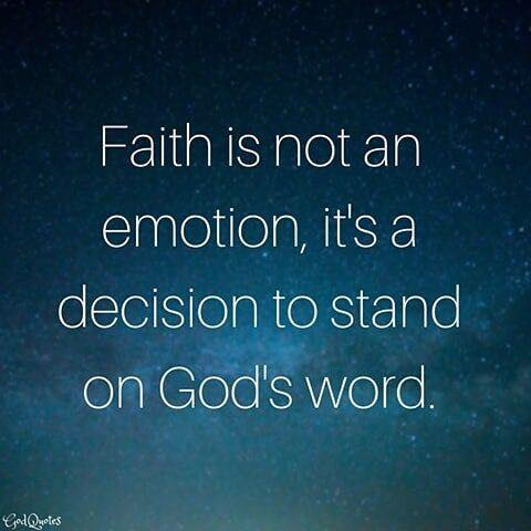 Faith is Not an Emotion