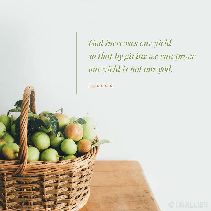 God Increases our Yield
