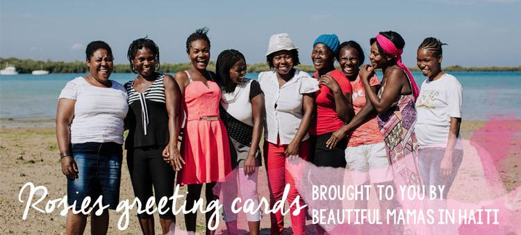 Single Handcrafted Cards by Rosie's Boutique from Haiti