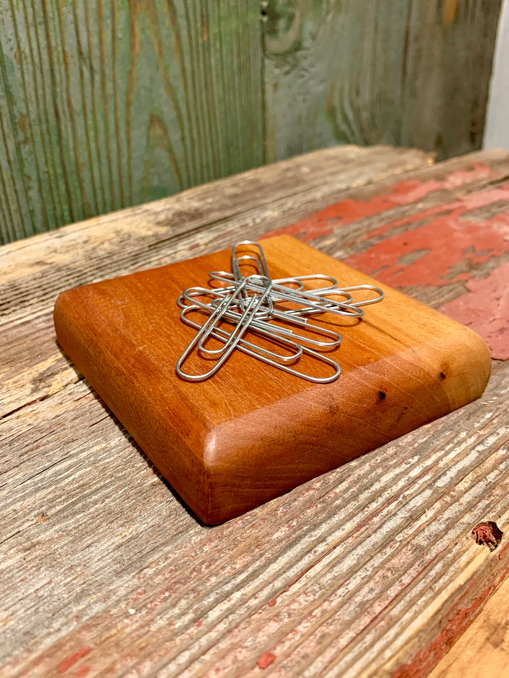 Wooden Paper Clip Holder by Narrow Gate from Tennessee
