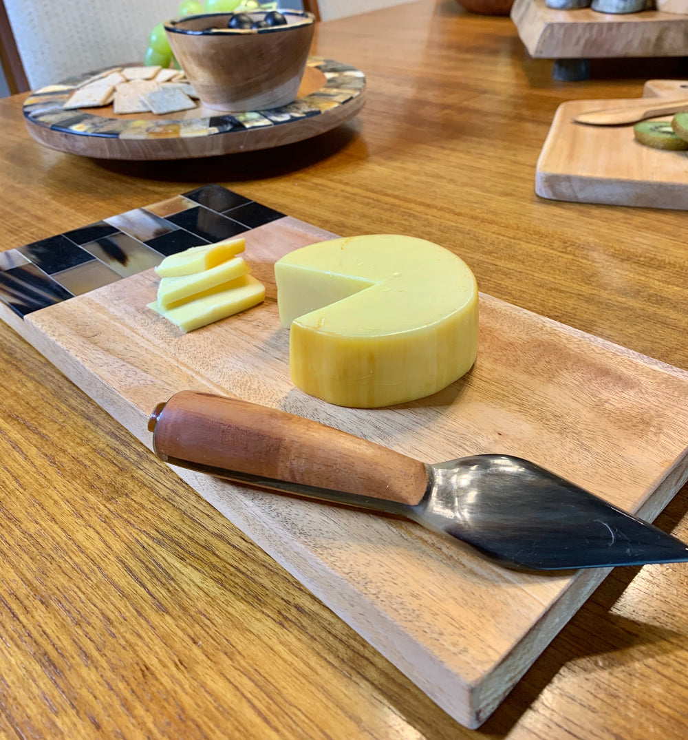 Mahogany Cheese Board and Knife by Atelier Calla from Haiti