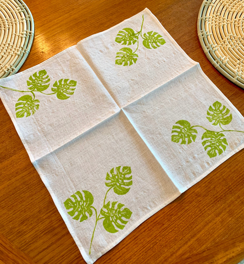 Block Stamped Cotton Napkins by Himalayan Tapestry from India