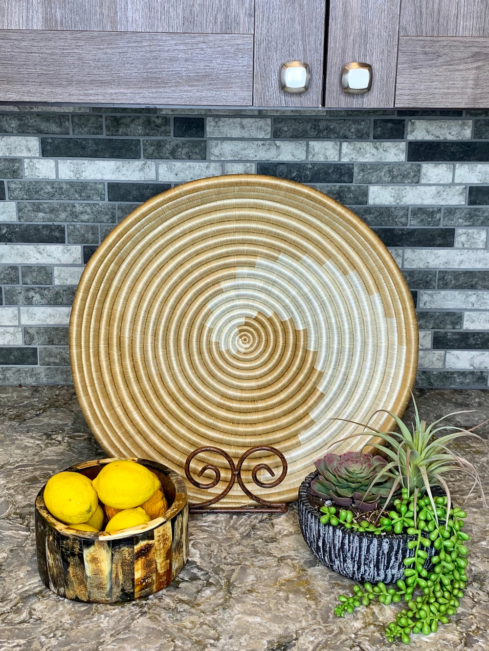 Zera Woven Large Tray by Azizi Life from Rwanda