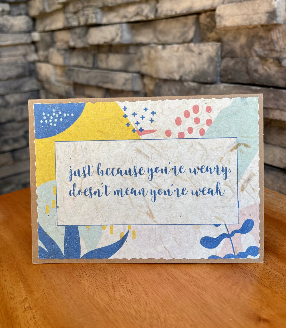 Learn to Rest Banana Paper Cards by Rosie's Boutique from Haiti