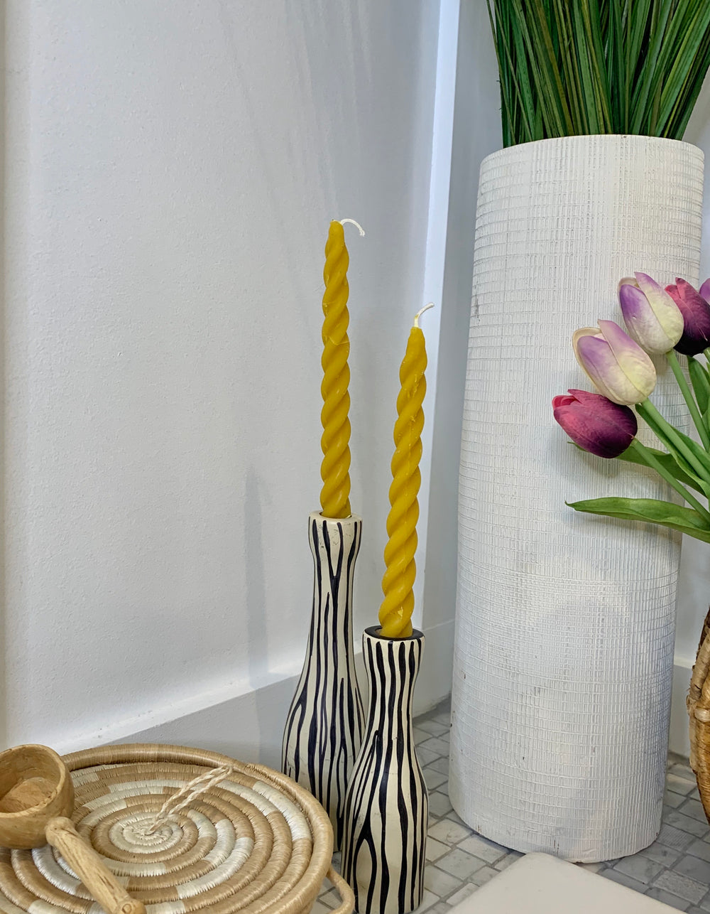 Hand Dipped Twisted Candles by Beeutiful Creations from Rwanda
